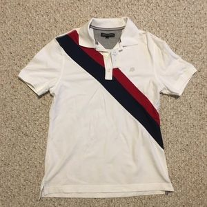 Banana Republic Polo with Navy/Red Stripe NEW